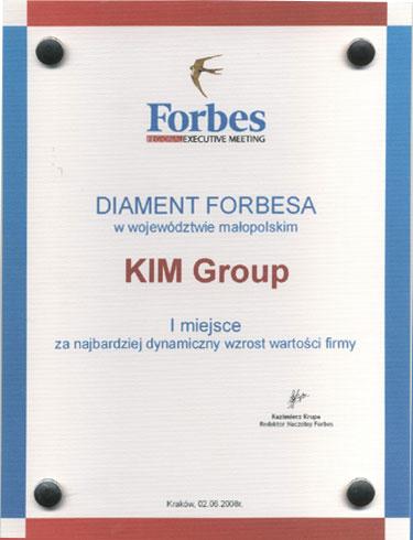 Diament Forbes'a dla Kim Group